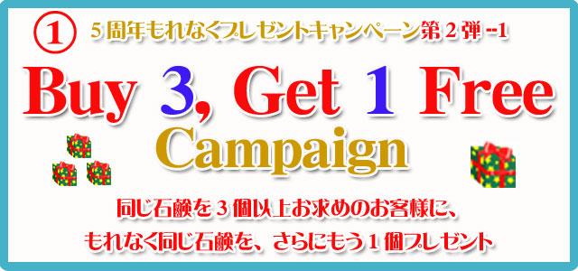 アンティアン5周年記念第2弾3buy,get1freeキャンペーン1