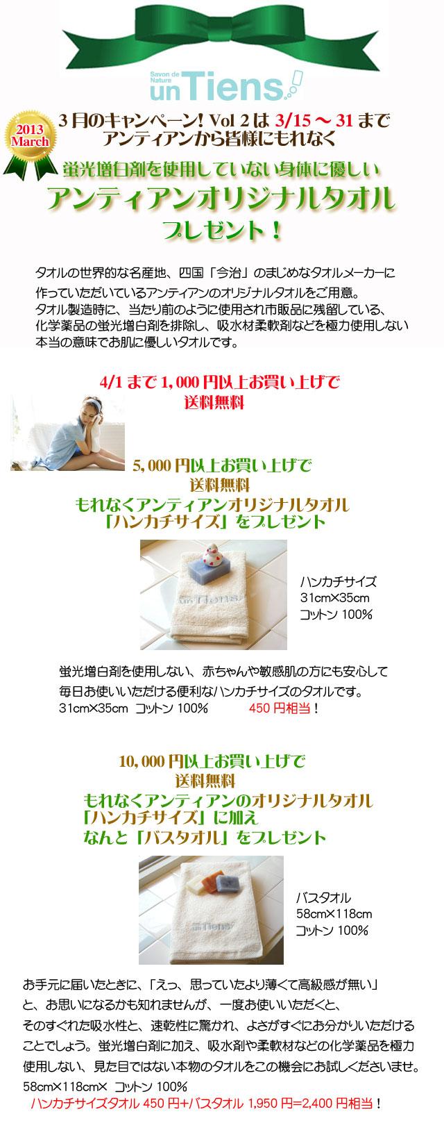 手作り石鹸アンティアン1303-2今月のキャンペーンtop