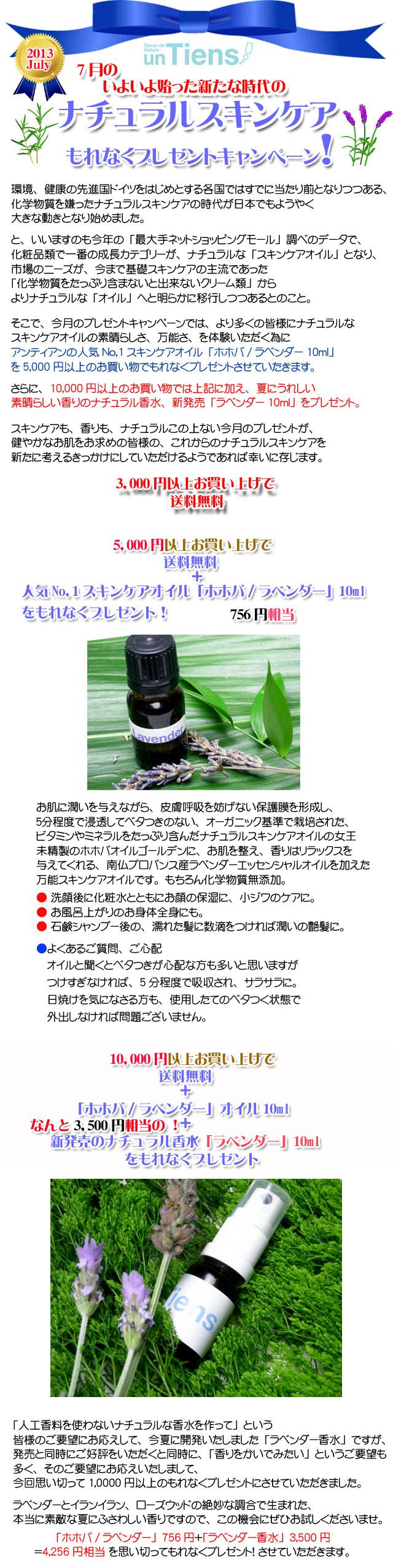 手作り石鹸アンティアン1307今月のキャンペーンcopy