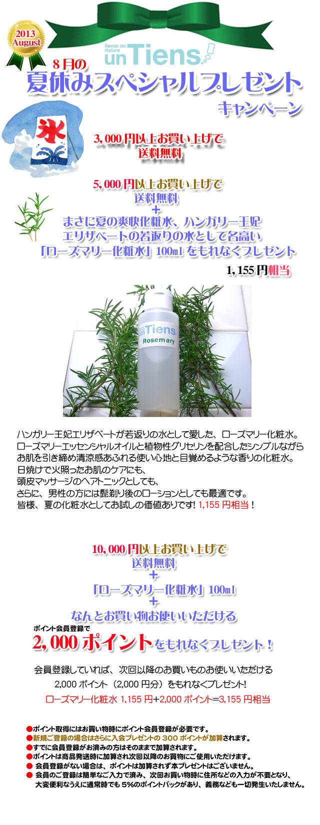手作り石鹸アンティアン1308今月のキャンペーンcopy