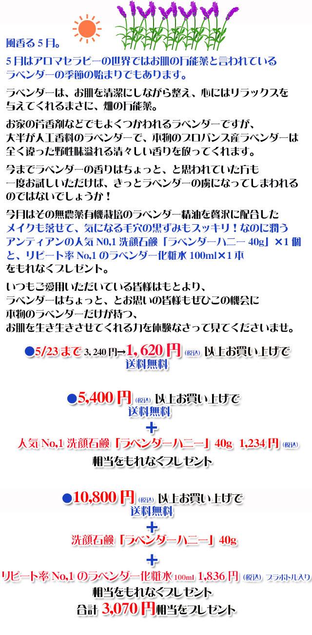 手作り石鹸アンティアン1605キャンペーンcopy