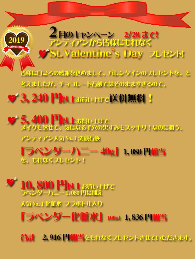 オーガニック化粧品手作り石鹸アンティアン1902今月のキャンペーンtop