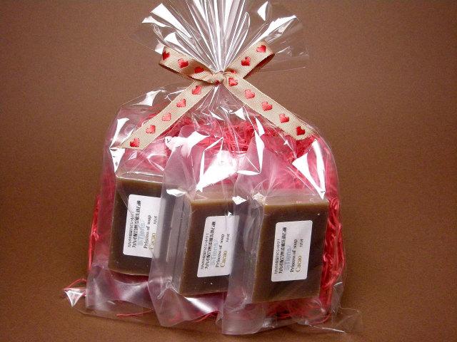 オーガニック化粧品手作り石鹸アンティアンバレンタインチョコレート石鹸3個