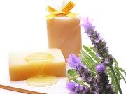 手作り石鹸専門メーカーアンティアンの人気ナンバーワン手作り洗顔石鹸ラベンダーハニー写真